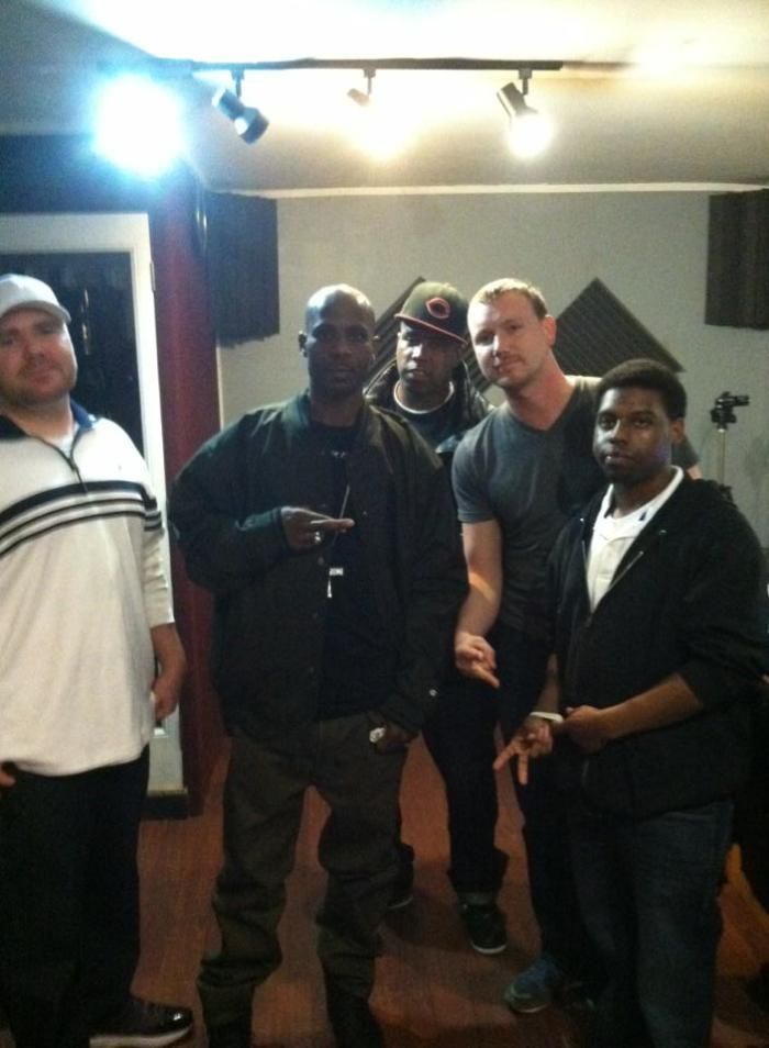 DMX second from left, Ross far right